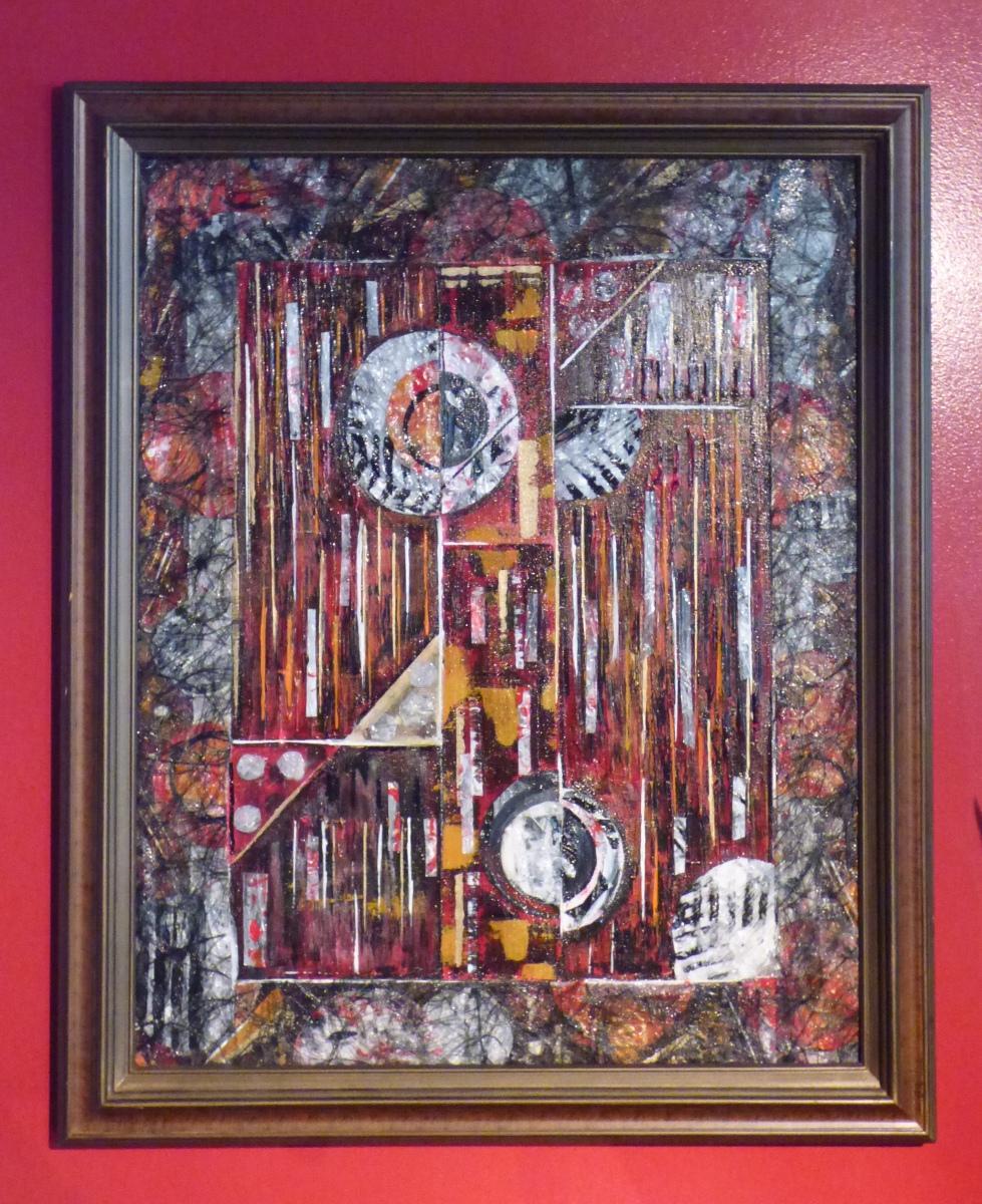 #ArtDeco Inspired #Geometric #Acrylic #Painting