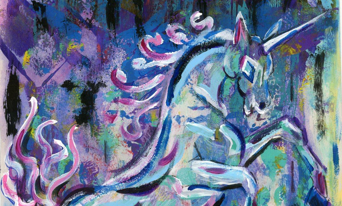 Mystical #Myth #Monoprint #Horses