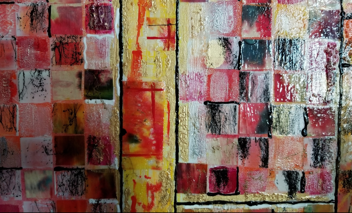Expressions of #Fall Through #Glass - #Acrylic #Painting